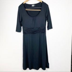 Athleta Black Scoop Neck Sheath A-Line Dress